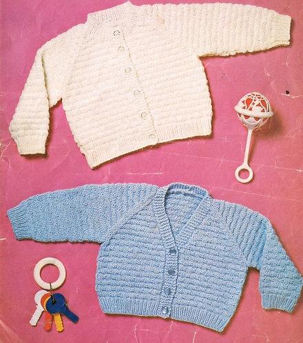 646L baby matinee coat vintage knitting pattern  PDF Download