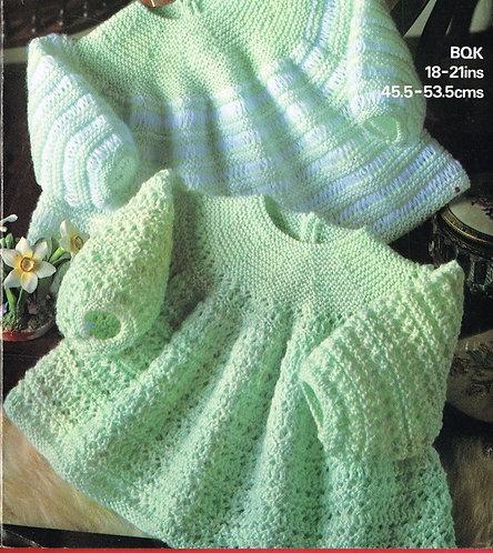 1928M baby dress vintage knitting pattern  PDF Download