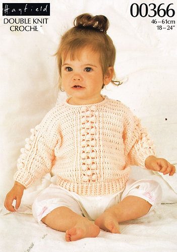 366H toddler jumper vintage crochet pattern  PDF Download