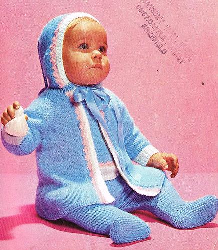 6275P baby vintage knitting pattern PDF