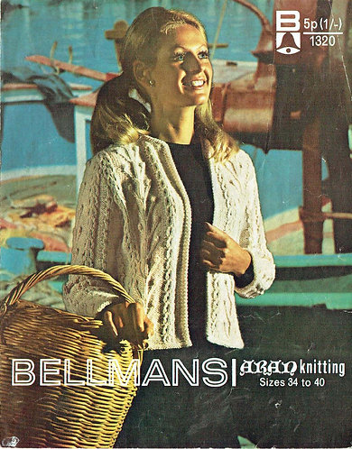 1320Bell ladies vintage knitting pattern PDF