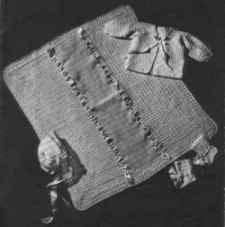 5 piece baby vintage crochet pattern PDF
