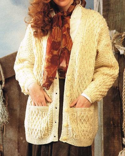 4098W Ladies vintage knitting pattern PDF