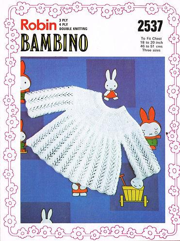 2537R baby dress vintage knitting pattern  PDF Download