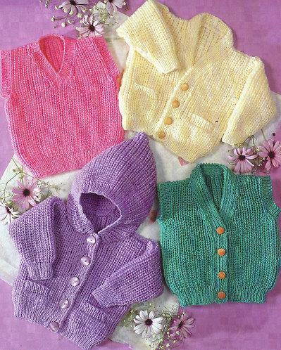 7193KC baby vintage knitting pattern PDF