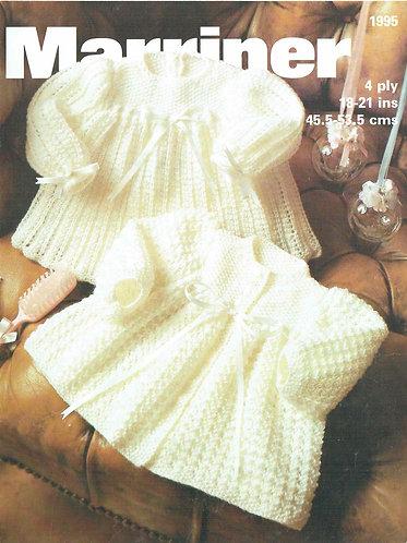 1995M baby vintage knitting pattern