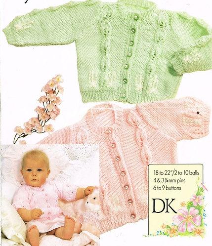 2098H baby cardigan vintage knitting pattern  PDF Download