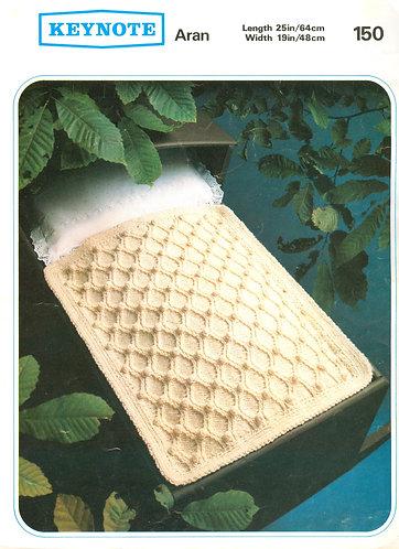 150K baby pram blanket vintage knitting pattern  PDF Download