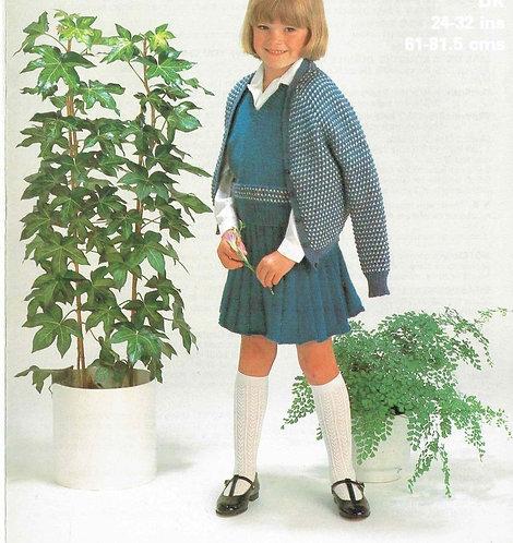 1954M girls jumper suit vintage knitting pattern PDF Download