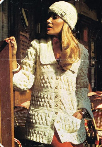 2464P Ladies vintage crochet pattern PDF