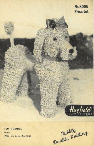 8005H poodle dog toy vintage knitting pattern PDF Download
