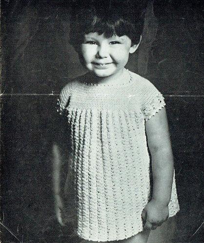 795T girls dress vintage crochet pattern  PDF Download