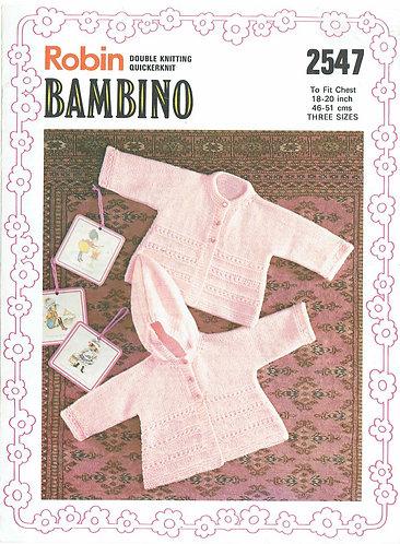 2547R baby matinee coats vintage knitting pattern  PDF Download