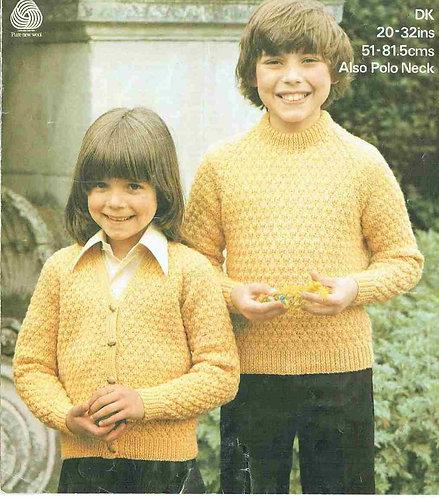 1894M childrens jumper vintage knitting pattern  PDF Download