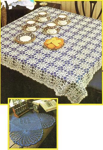 6262Tw doily vintage crochet pattern PDF
