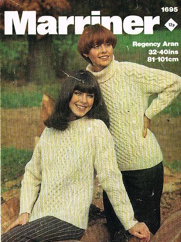 1695M ladies vintage knitting pattern PDF