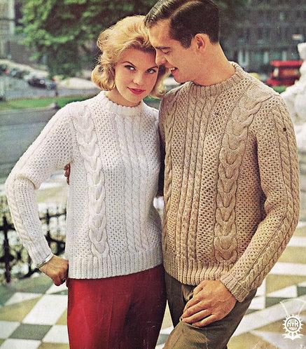 1376T vintage knitting pattern PDF