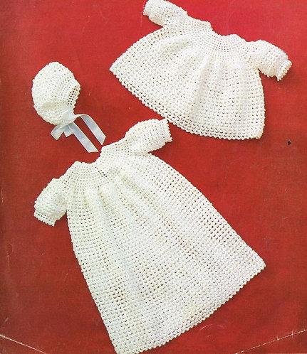 231BK baby vintage crochet pattern PDF