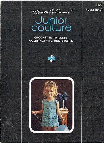 72T girls dress vintage crochet pattern  PDF Download