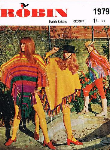 1979R ladies ponchos vintage crochet pattern  PDF Download