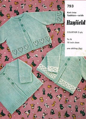 793H baby matinee coats vintage knitting pattern  PDF Download