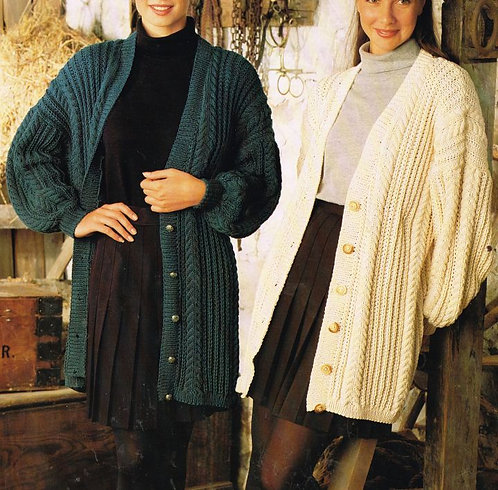 9468S Ladies vintage knitting pattern PDF