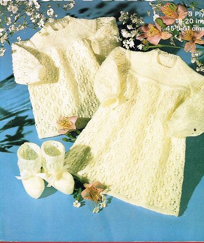 1795M baby dress vintage knitting pattern  PDF Download