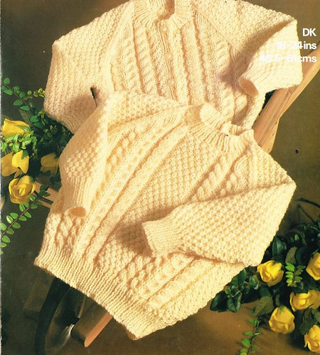 1859M childrens jumpersvintage knitting pattern  PDF Download