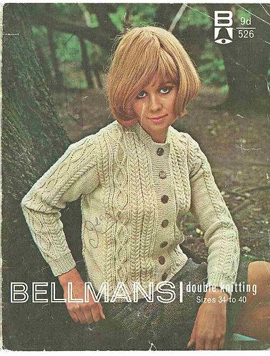 526Bell ladies vintage knitting pattern PDF