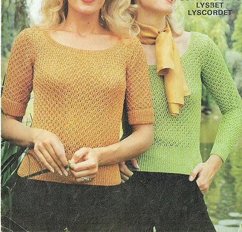 6178T ladies jumper vintage knitting pattern  PDF Download