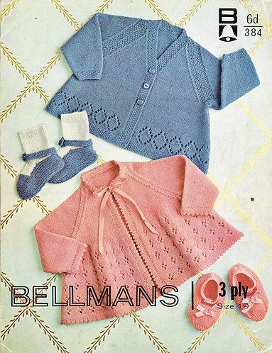 384Bell baby vintage knitting pattern PDF