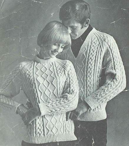 810BK ladies vintage knitting pattern PDF