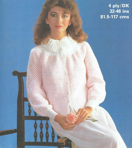 1936 ladies bedjacket Vintage knitting pattern  PDF Download