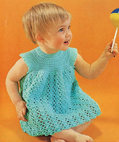 226Bk baby vintage crochet pattern PDF