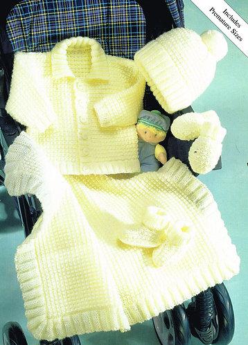 3108S baby vintage knitting pattern PDF