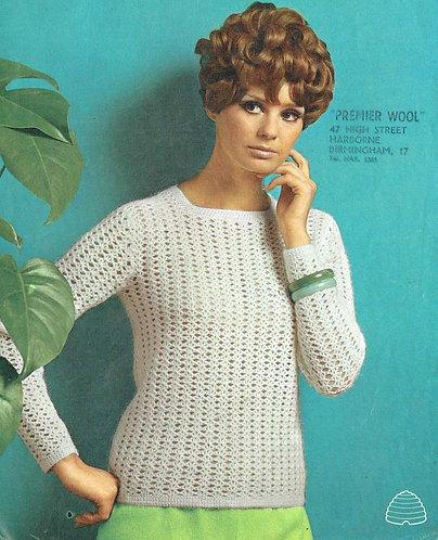 9936P Ladies vintage crochet pattern PDF