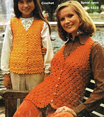 4323Ja Ladies vintage crochet pattern PDF