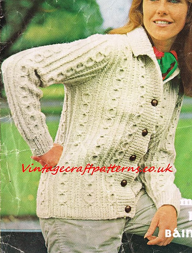 661Ma ladies aran cardigan PDF