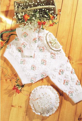 5100P baby vintage knitting pattern PDF