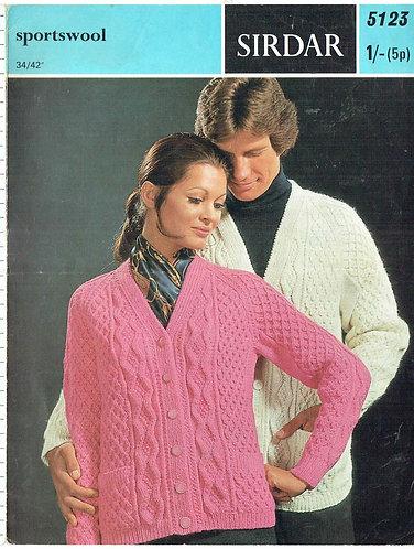 5123S Ladies vintage knitting pattern PDF