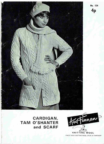 Ard Finnan 124 ladies vintage knitting pattern PDF