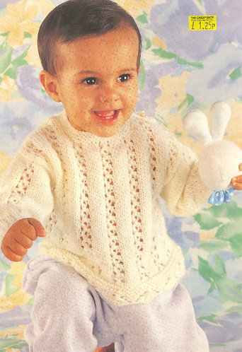 5334P Baby vintage knitting pattern PDF