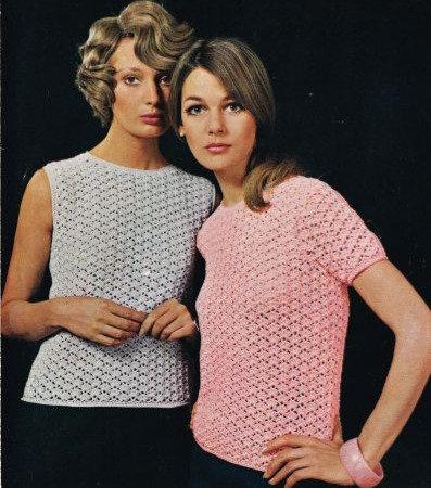 764T ladies summer top vintage crochet pattern  PDF Download