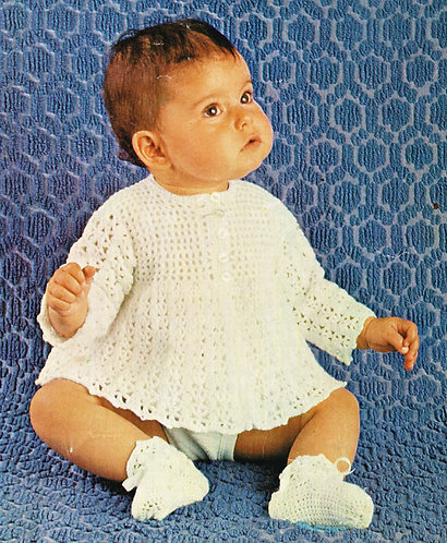 2312R baby vintage crochet pattern PDF