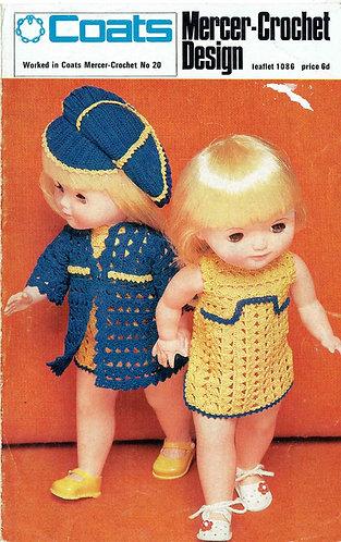 1086 dolls cloths vintage crochet pattern PDF Download