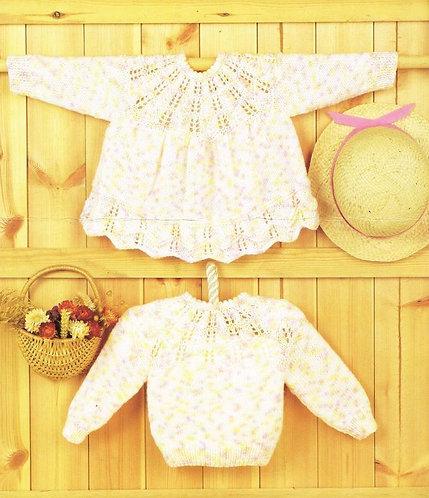 587Ar baby vintage knitting pattern PDF