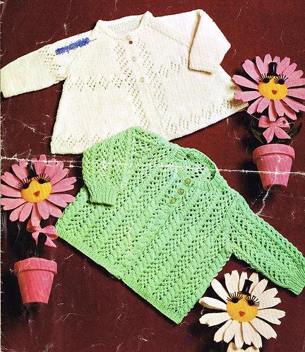 6274P baby vintage knitting pattern PDF