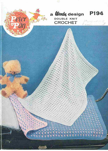 194 baby blankets afghan vintage crochet pattern PDF Download