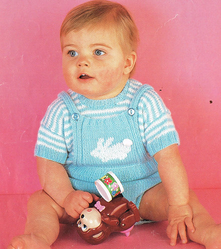 3330S baby vintage knitting pattern PDF