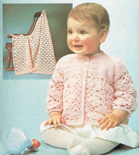 818Ar baby vintage crochet pattern PDF